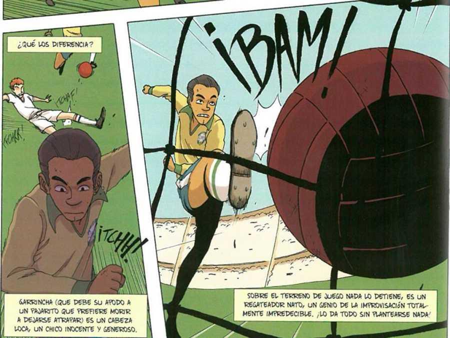 Viñetas de 'El rey Pelé. El hombre y la leyenda'