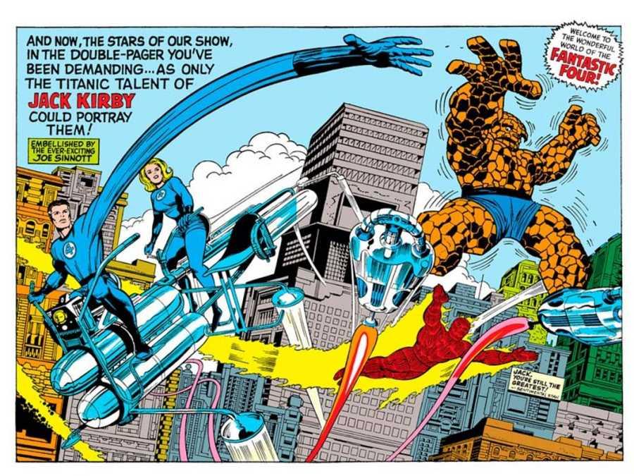 Ilustración de Jack Kirby apra un anual del cuarteto