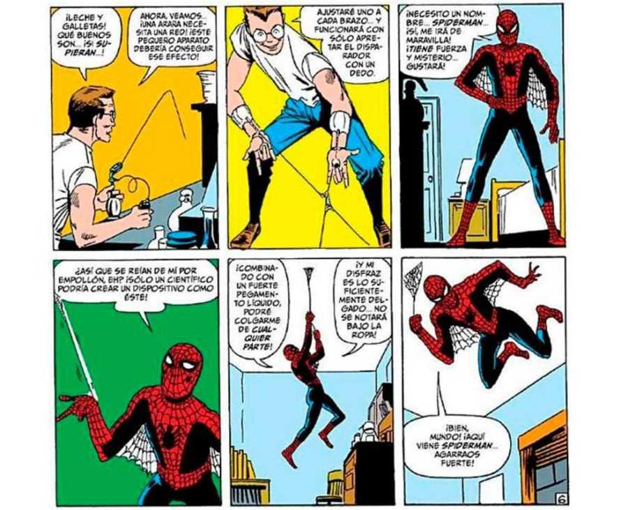 Viñetas de 'Amazing antasy 15' con la primera aparición de Spider-Man