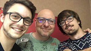 Jonathan Belles, Javier Capitán y Diego Fortea.