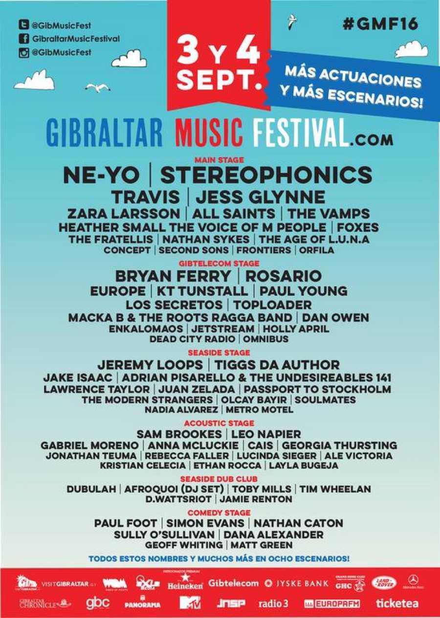 Cartel de la próxima edición del Gibraltar Music Festival 2016