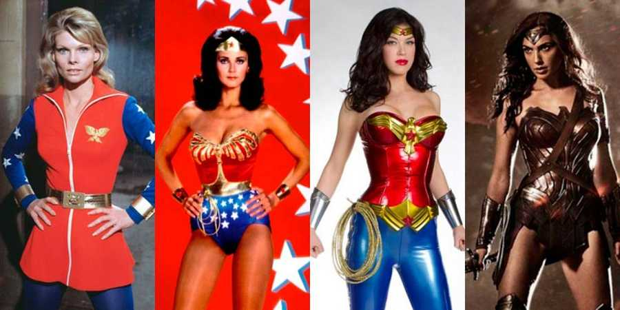Las Wonder Women de la televisión y el cine: Cathy Lee Crosby, Lynda Carter, Adrianne Palicki y Gal Gadot