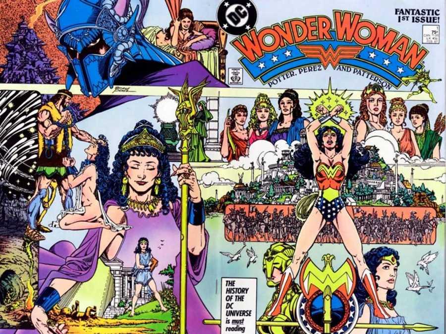 Portada del primer número de 'Wonder Woman', de George Pérez