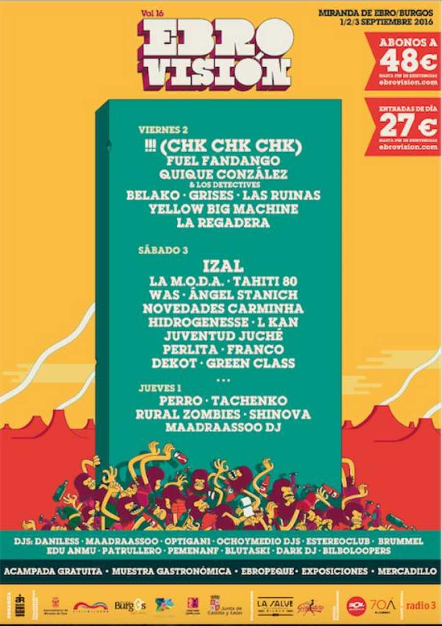 Cartel de la próxima edición del festival Ebrovisión