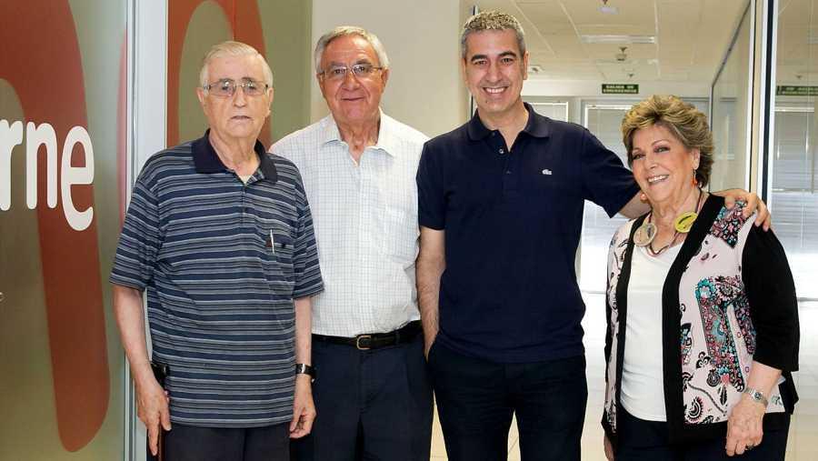 José Luis González-Balado, Julián del Olmo, Arturo Martín y Paloma Gómez Borrero