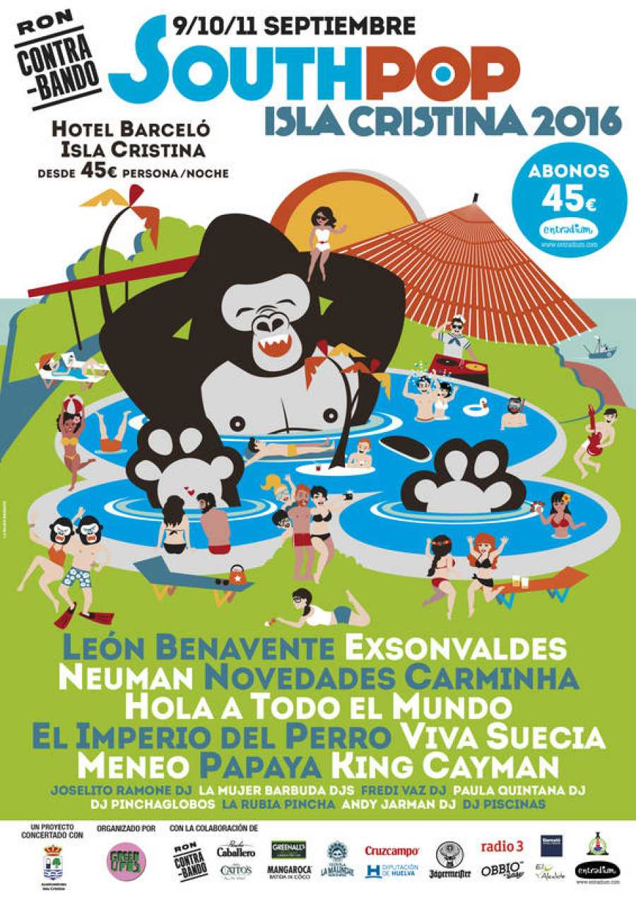 Cartel del festival South Pop Isla Cristina 2016