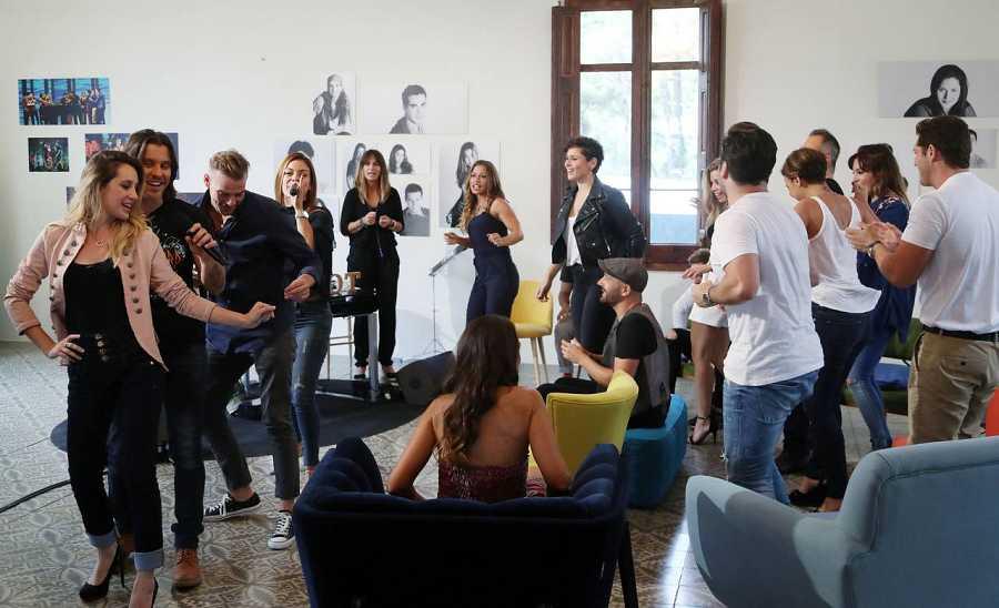 Mireia, Javián, Alex Casademunt y Geno, en el reencuentro de OT