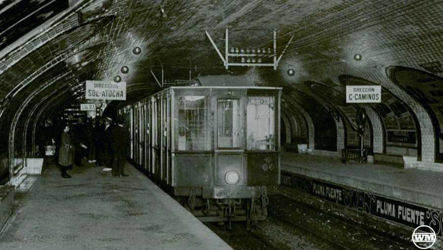 Antigua estación del metro de Madrid