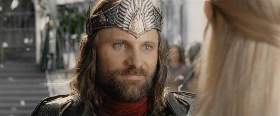 Vigo Mortensen (Aragorn) en un fotograma de 'El señor de los anillos: El retorno del rey'.