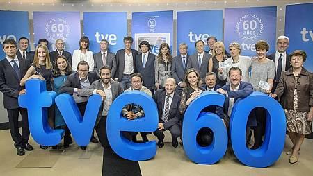 Algunos de los profesionales que han formado y forman parte de estos 60 años de TVE