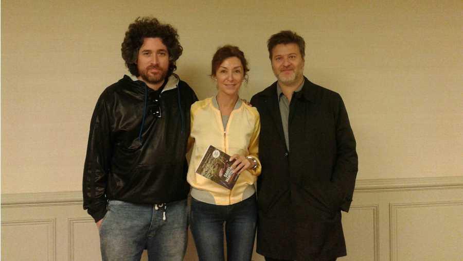 Con los directores de 'El ciudadano ilustre'