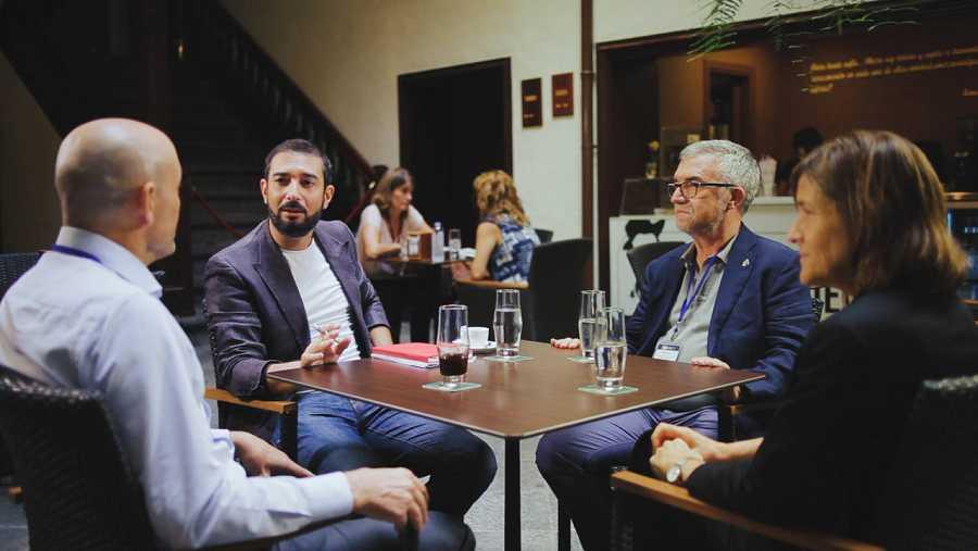 Pere Estupinyà, en una reunión de los veinte centros de mayor excelencia investigadora de España