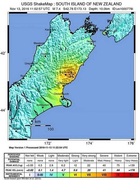 Terremoto de magnitud 7,4 en Nueva Zelanda