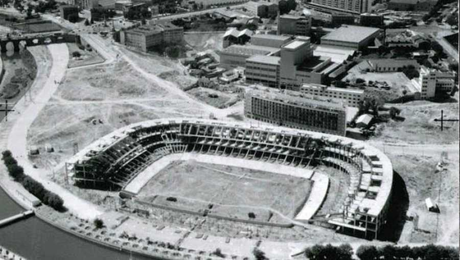 Nacimiento del estadio Vicente Calderón