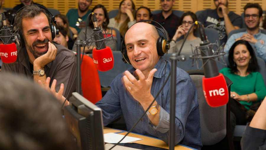 Miguel Ángel Hoyos y Pepe Viyuela, en un momento del programa
