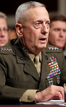 El general James Mattis, futuro secretario de Defensa.