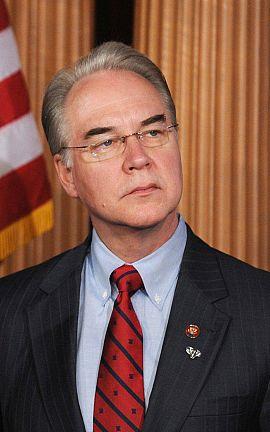 El congresista Tom Price es el elegido como nuevo secretario de Salud y Servicios Humanos.