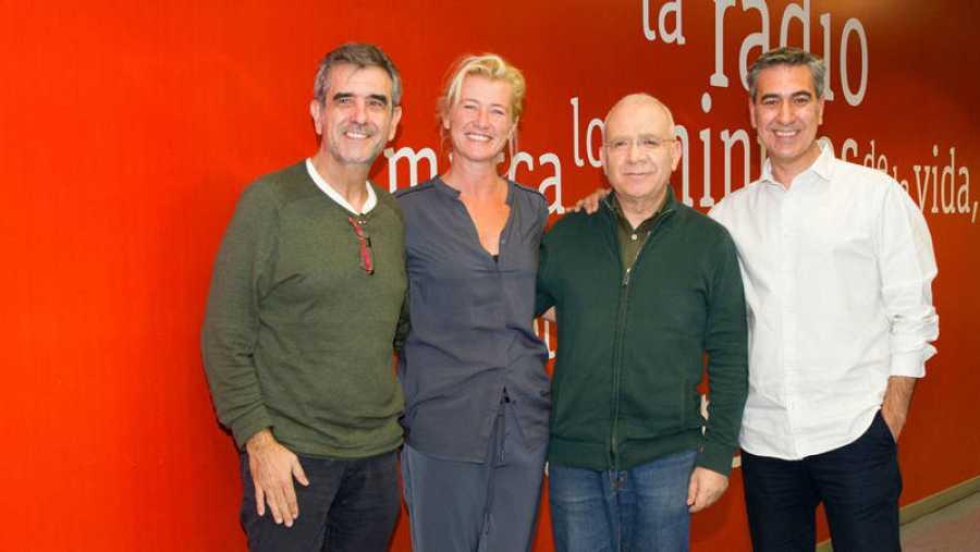 Oristrel, Duato y Romero, con Arturo Martín