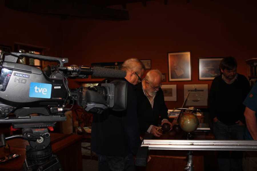 Un momento del rodaje del documental sobre Gonzalo Suárez