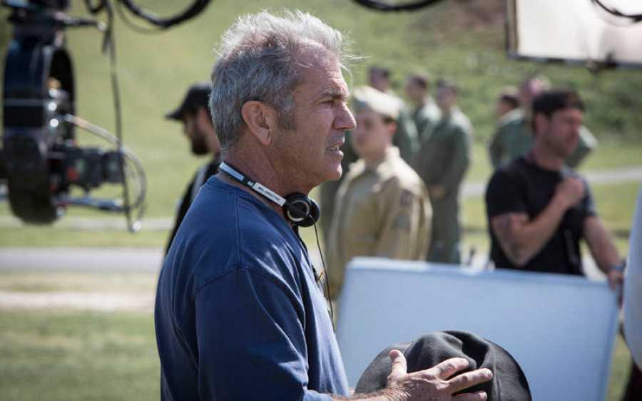Mel Gibson en un momento del rodaje