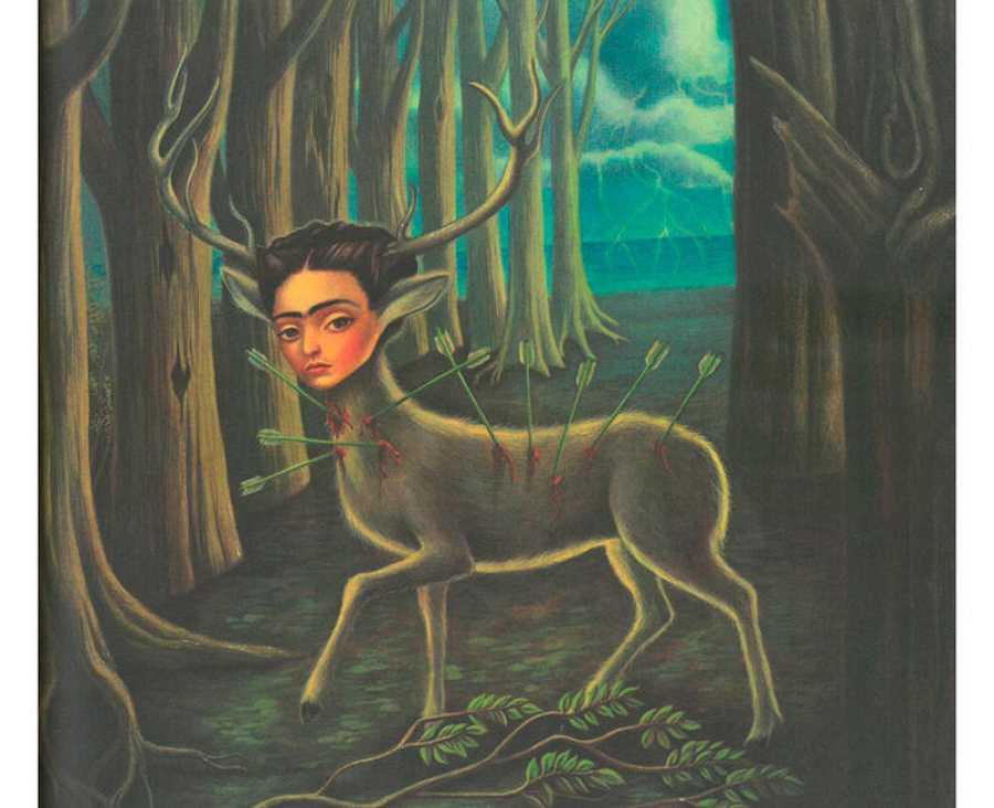 Versión de Benjamin Lacombe de 'El ciervo herido', de Frida Kahlo