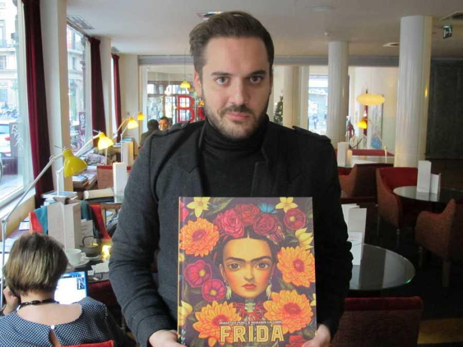 Benjamin Lacombe presentando 'Frida' en Madrid