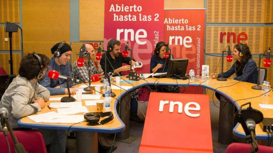 Pepe Viyuela, Antílopez, Miguel Ángel Hoyos y Paloma Arranz, en la entrevista a Rulo