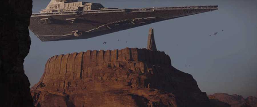 Jedha, un mundo desértico que aparece en la nueva 'Rogue One'.