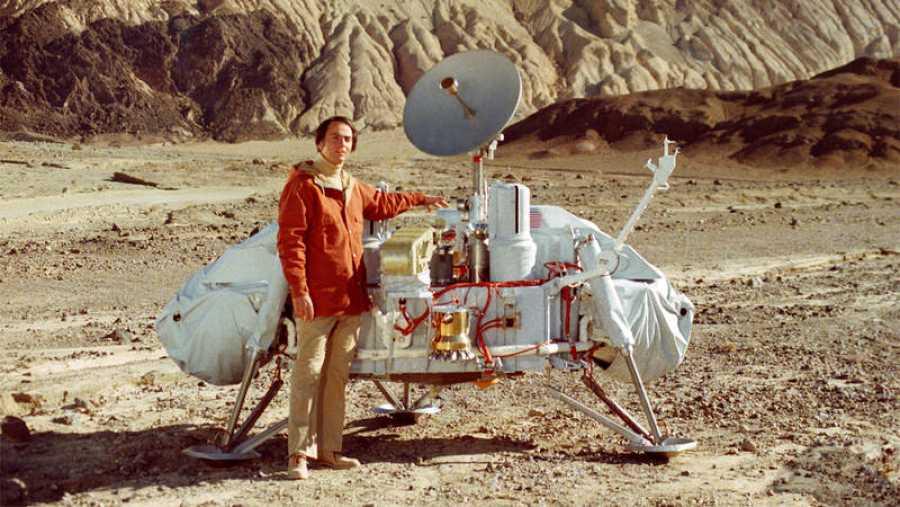 Sagan, en el capítulo 'Blues para un planeta rojo', de 'Cosmos'.