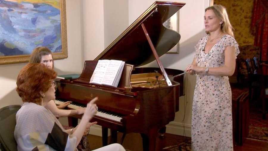 Ainhoa Arteta, en clase con Ruth Falcón, en Nueva York
