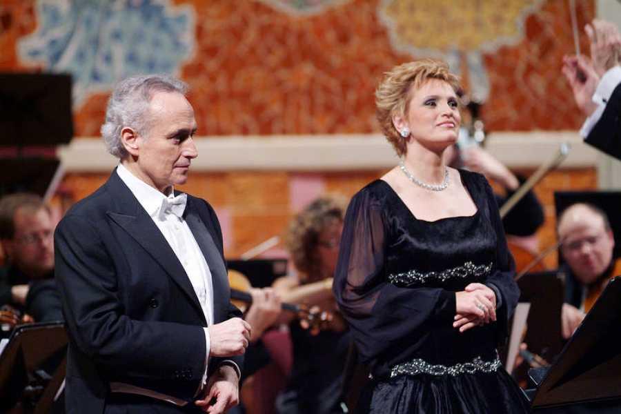 Ainhoa Arteta, en un recital junto a José Carreras