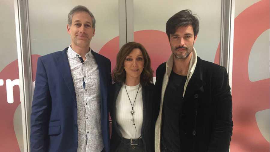 Con el compositor, Bruno Axel y el productor, Álvaro Cañil