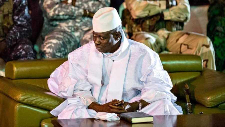 El presidente saliente de Gambia, Yahya Jammeh