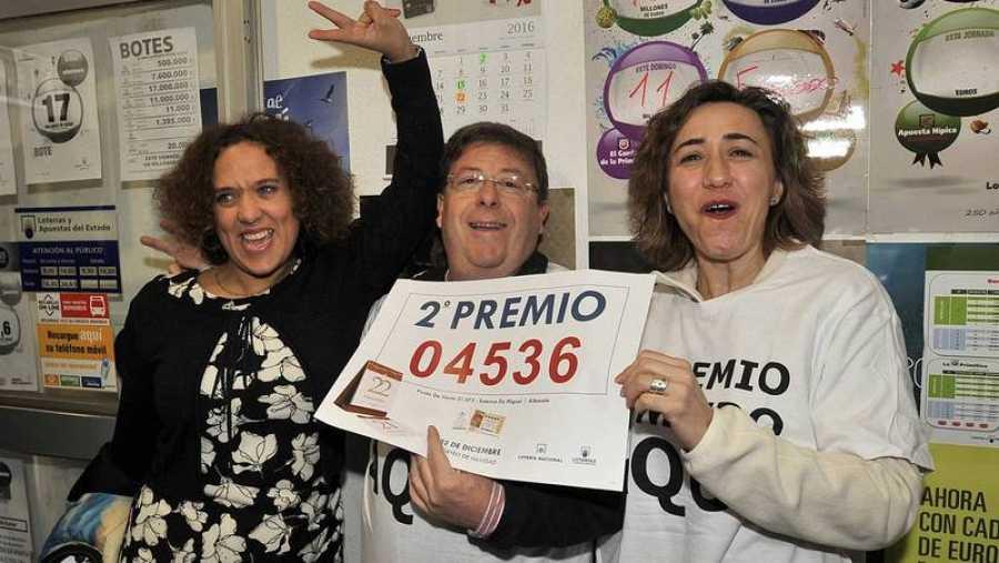 Premiados del segundo premio en Albacete.