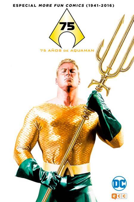 Portada de '75 años de Aquaman. Especial More Fun Comics (1941-2016)'