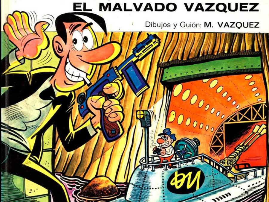 Fragmento de una portada de 'Anacleto', de Manuel Vázquez