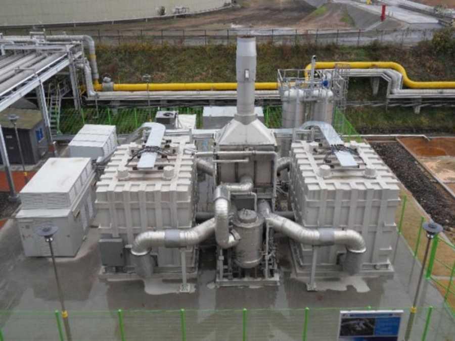 Las células de combustible como ésta podrían capturar carbono de las chimeneas de las plantas de combustibles fósiles.