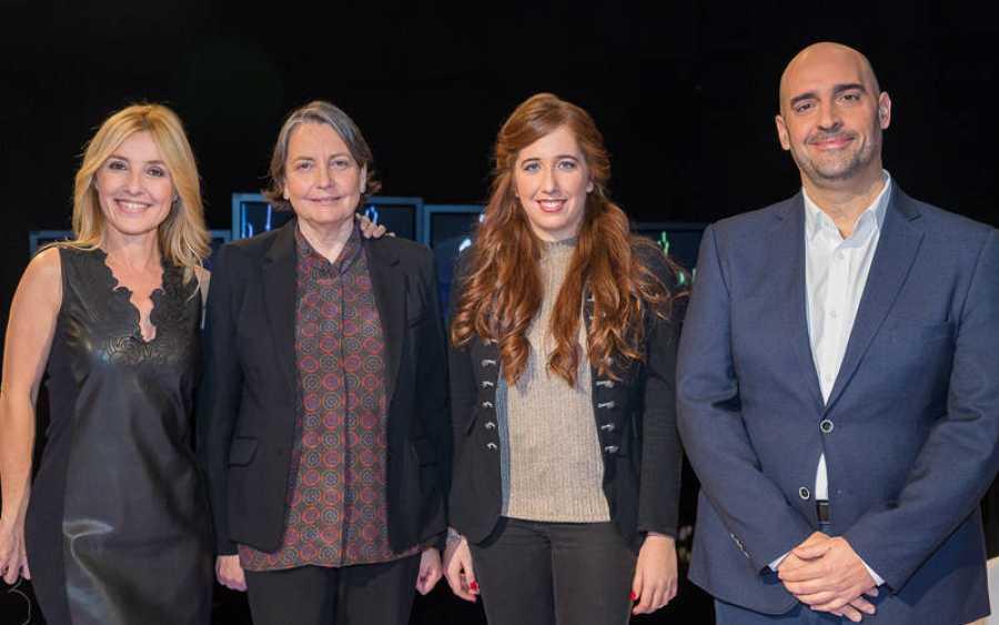 Cayetana Guillén Cuervo con Javier Méndez, Cristina Andreu y Blanca Bonvehi