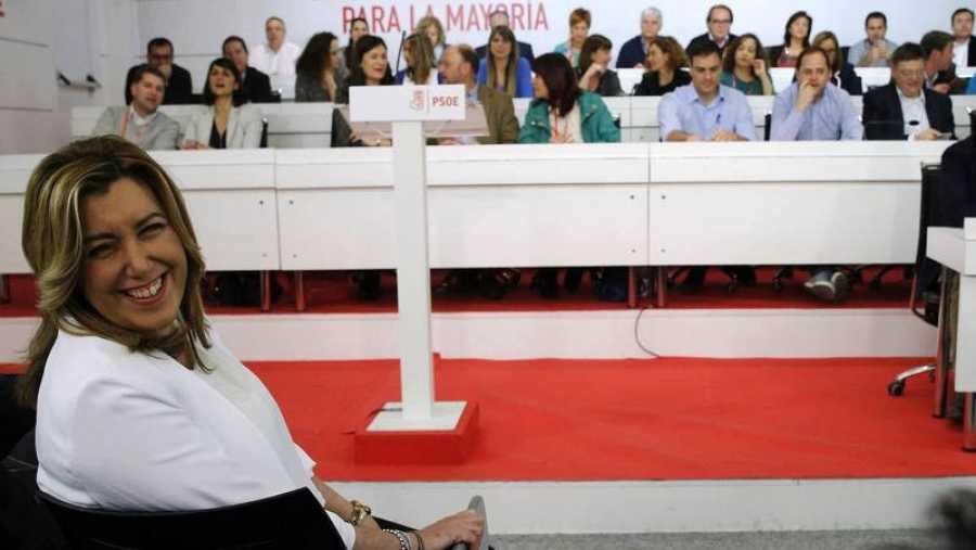 Susana Díaz, en primer plano, en un antiguo Comité Federal del PSOE.