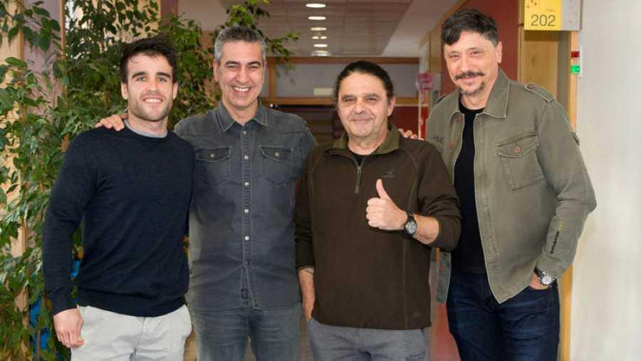 De izquierda a derecha: Nico TNT, Arturo Martín, Ricardo Sánchez y Carlos Bardem