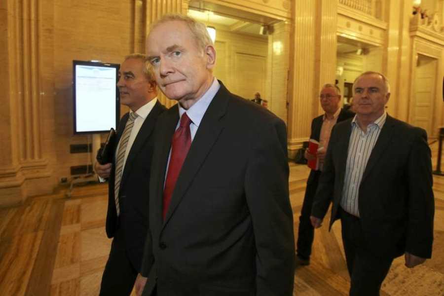 El exvicepresidente del Gobierno norirlandés, Martin McGuinness, en la Asamblea regional