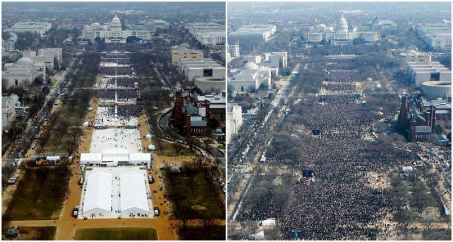 Comparativa de las ceremonias de investidura de Obama y Trump