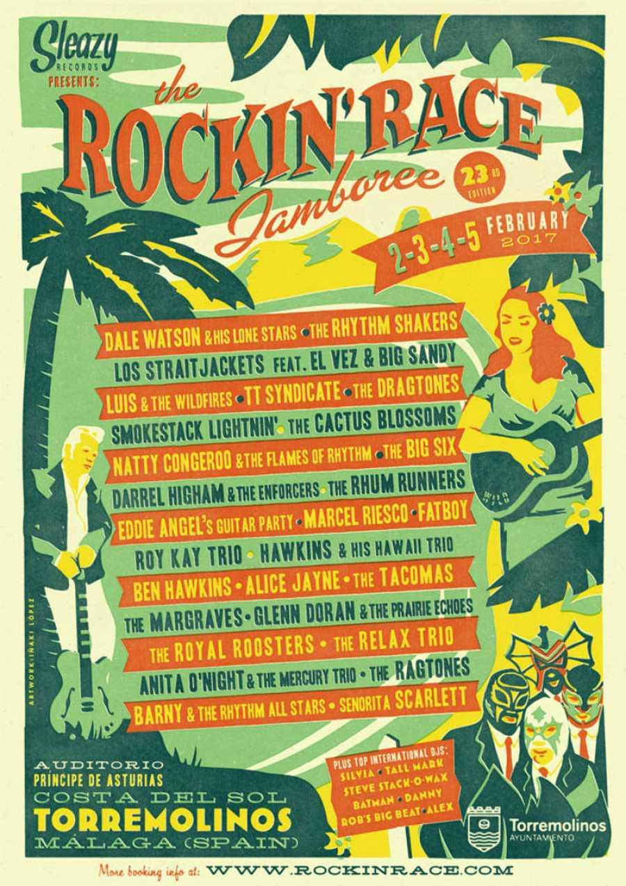 Cartel de la edición 23 del Rockin' Race Jamboree