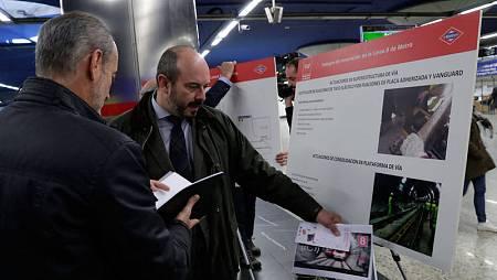 Un momento de la presentación del plan de comunicación para las obras en la línea 8 de Metro de Madrid.