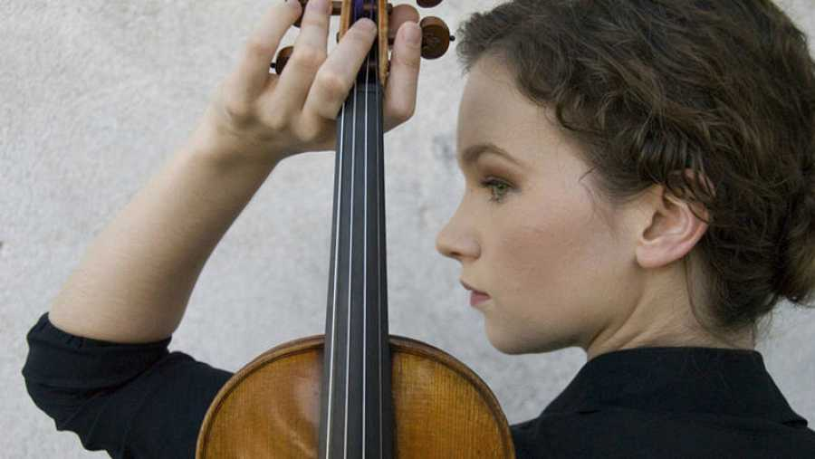 La violinista Hilary Hahn