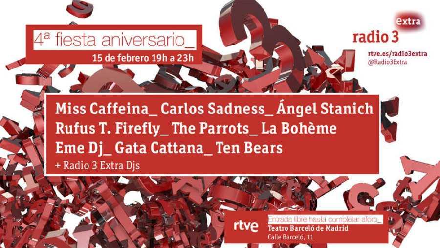 Cartel de la 4ª fiesta de Radio 3 Extra