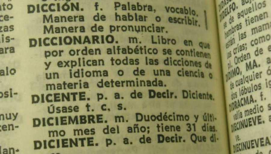 Interior de un diccionario