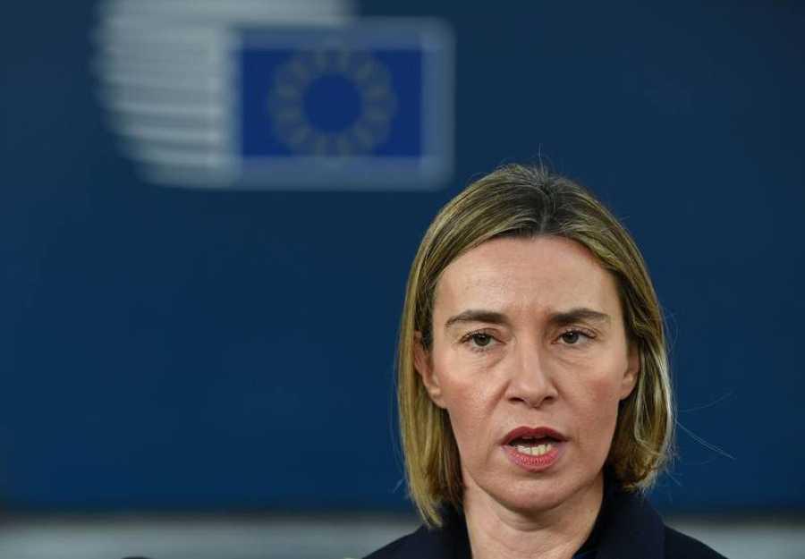La alta representante de la UE para política exterior, Federica Mogherini