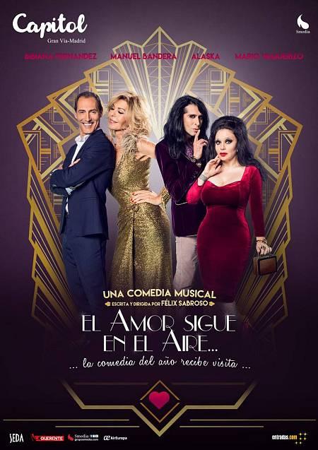 Cartel de la comedia musical 'El amor sigue en el aire'