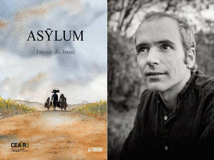 Portada de 'Asylum' y su autor, Javier de Isusi